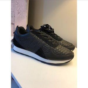 NWT Zara black leather sneakers